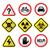 warning signs   danger risk stress   flat design stock photo © redkoala