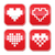 pixel heart love vector buttons set stock photo © redkoala