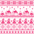 christmas jumper or sweater pink seamless pattern with santa and houses stock photo © redkoala