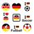 Almanya · bayrak · futbol · topu · vektör · dünya · futbol - stok fotoğraf © redkoala
