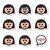 vector · iconos · caras · blanco · sonrisa - foto stock © redkoala
