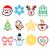 christmas · hoed · vogel · teken · illustratie - stockfoto © redkoala