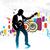 homme · jouer · guitare · électrique · guitariste · guitare - photo stock © redshinestudio