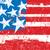 стилизованный · американский · флаг - Сток-фото © retrostar
