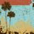 grunge · pálmafák · fa · tavasz · háttér · sziluett - stock fotó © retrostar