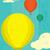 hot · lucht · ballonnen · naadloos · retro · patroon · kunst - stockfoto © retrostar