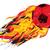 flaming soccerball stock photo © retrostar