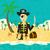pirate on an island with treasure stock photo © retrostar