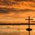 鳥 · クロス · 群れ · 飛行 · 夜明け - ストックフォト © rghenry