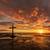 noir · croix · marée · faible · plage - photo stock © rghenry