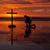 man · kruis · strand · god · golven - stockfoto © rghenry