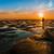 laag · getij · zonsondergang · man · permanente · strand - stockfoto © rghenry