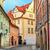 renkli · evler · Prag · tipik · kırmızı · çatılar - stok fotoğraf © rglinsky77