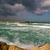 waves on mediterranean sea under stormy sky stock photo © rglinsky77