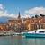 középkori · város · francia · panorámakép · kilátás · tengerpart - stock fotó © rglinsky77