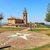 small park and old church in diano dalba italy stock photo © rglinsky77