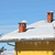 Red chimneys on snowy roof. Piedmont, Italy. stock photo © rglinsky77