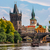 medieval tower and charles bridge in prague stock photo © rglinsky77