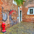 brick walls and small courtyard in venice italy stock photo © rglinsky77