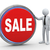 3d businessman with sale button stock photo © ribah