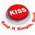 3D · beijo · botão · ilustração · 3d · princípio · simples - foto stock © ribah