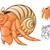 Hermit Crab Cartoon Character stock photo © ridjam