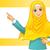 muslim · donna · indossare · bianco · velo · braccia - foto d'archivio © ridjam