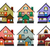 front view of various modern houses stock photo © riedjal