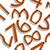 wooden numbers shadowed pattern stock photo © robertosch