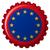 Europie · banderą · przycisk · ikona · nowoczesne · wektora - zdjęcia stock © robertosch