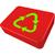 vetor · cartão · reciclar · desperdiçar · ícone · colorido - foto stock © robertosch