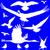 Blauw · vogels · veren · vector · textuur · abstract - stockfoto © robertosch