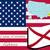 地図 · アラバマ州 · 赤 · パターン · アメリカ · 広場 - ストックフォト © robertosch