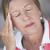 シニア · 女性 · 片頭痛 · 頭痛 · 閉経 · 肖像 - ストックフォト © roboriginal