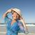 肖像 · 楽しい · 成熟した女性 · ビーチ · 魅力的な · 座って - ストックフォト © roboriginal