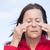 cara · senior · mulher · sofrimento · dor · de · cabeça - foto stock © roboriginal