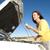 woman checking oil car stock photo © roboriginal