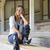 figyelmes · nő · ül · egyedül · szabadtér · portré - stock fotó © roboriginal