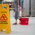 cleaning warehouse caution sign stock photo © roboriginal