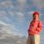 miękkie · chmury · Świt · krajobraz · pomarańczowy · Błękitne · niebo - zdjęcia stock © roboriginal