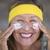skin care lotion joyful mature woman stock photo © roboriginal