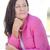 セクシー · 深刻 · 成熟した女性 · ピンク · 屋外 · 肖像 - ストックフォト © roboriginal