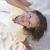 rijpe · vrouw · strand · portret · aantrekkelijk · Blauw - stockfoto © roboriginal