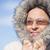 portre · kadın · duygu · soğuk · dişler · Kayak - stok fotoğraf © roboriginal
