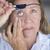 疲れ果てた · 女性 · 眼 · パッチ · 肖像 · 疲れ - ストックフォト © roboriginal
