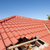 damaged red tile roof construction stock photo © roboriginal