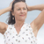 vriendelijk · rijpe · vrouw · portret · aantrekkelijk · outdoor · armen - stockfoto © roboriginal