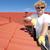 estacional · canal · limpieza · rojo · techo · manitas - foto stock © roboriginal