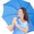 aantrekkelijk · rijpe · vrouw · Blauw · paraplu · portret · permanente - stockfoto © roboriginal