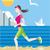 mulher · corrida · praia · esportes · mar · fitness - foto stock © robuart